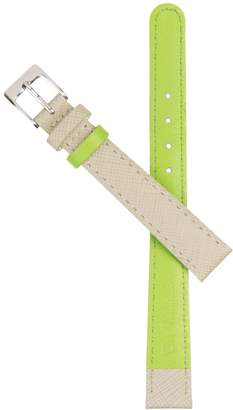 Auree Jewellery - Montmartre Almond & Apple Green Leather Watch Strap with Silver Buckle