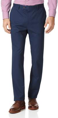Charles Tyrwhitt Dark Blue Slim Fit Stretch Cotton Chino Pants Size W40 L32
