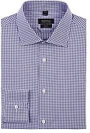 Barneys New York Men's Gingham Cotton Poplin Dress Shirt - Purple
