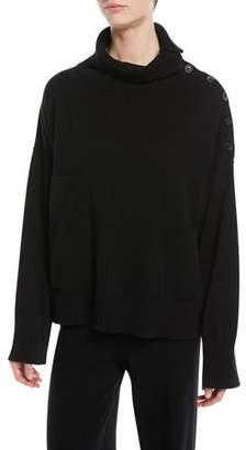 Joseph Mongolian Cashmere Button-Detail Sweater