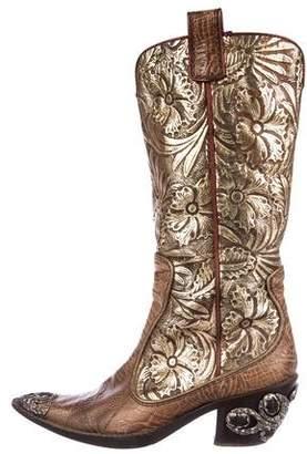 Giuseppe Zanotti Metallic Cowboy Boots