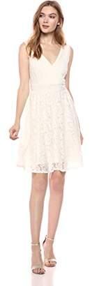 Romantic Dreamers Women's Lace Tie-Back Surplice Neckline Sleeveless Dress