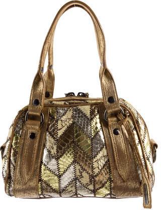 Miu MiuMiu Miu Metallic Patch Holly Handle Bag
