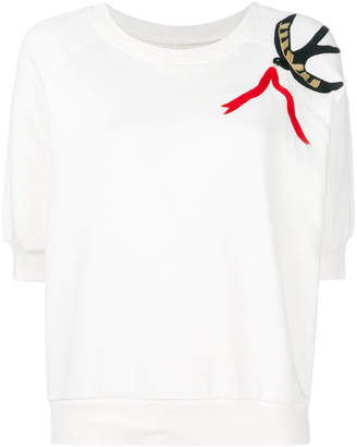 Bellerose embroidered short-sleeve sweater