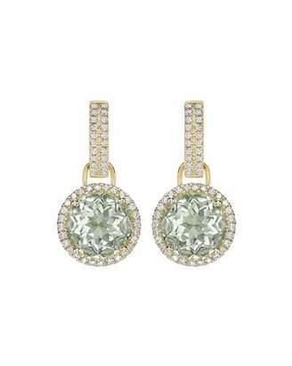 Kiki McDonough Grace Green Amethyst & Diamond Round Drop Earrings