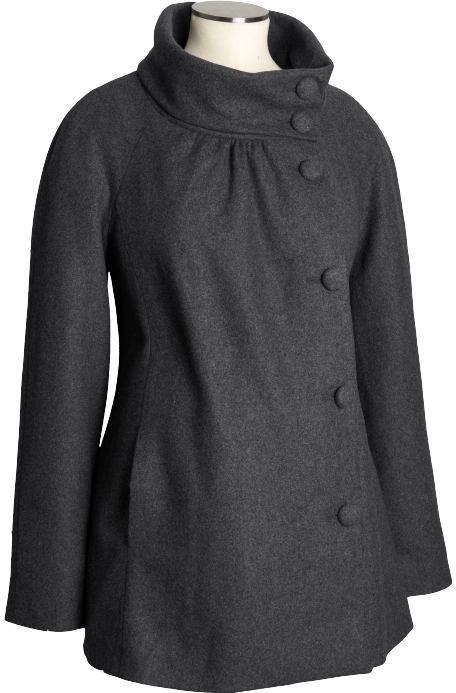 Maternity Wool-Blend Swing Coats