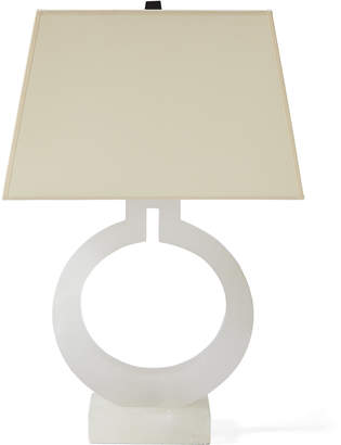 Serena lily alabaster ring table lamp