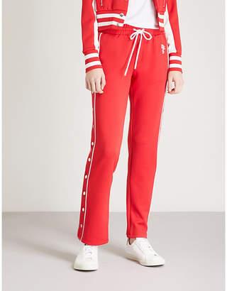 The Kooples Popper-fastening jersey jogging bottoms