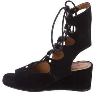 Chloé Lace-Up Suede Sandals