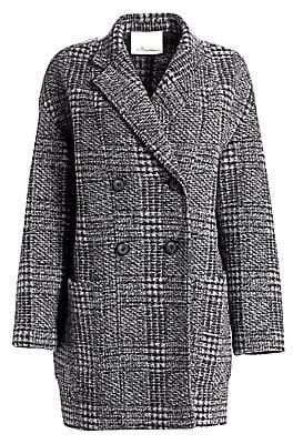 3.1 Phillip Lim Women's Glen Check Dolman Sleeve Coat