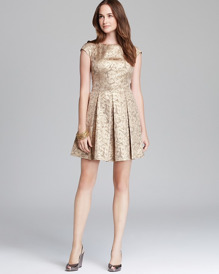 French Connection Dress - Blousy Bloom Jacquard