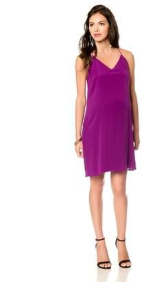 A Pea in the Pod V-neck Maternity Slip Dress