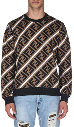 d3c2b349 Fendi Brown Men's Sweatshirts - ShopStyle