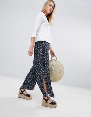 Brave Soul wide leg floral trousers
