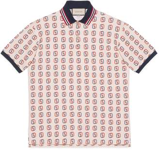 Gucci Oversize polo with Interlocking G print