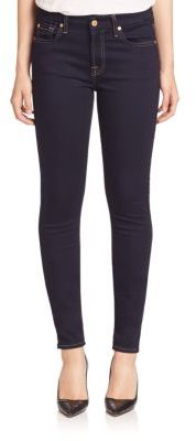 7 For All Mankind b(air) Rinsed Indigo Skinny Jeans $169 thestylecure.com