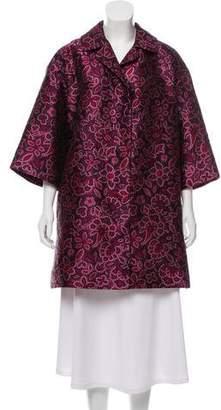 Lanvin Jacquard Embroidered Coat