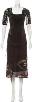 Save The Queen Patterned Midi Dress