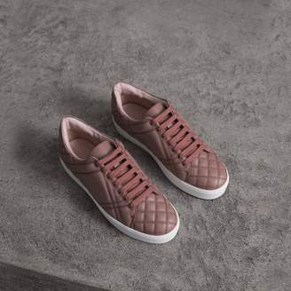 Burberry Check-quilted Leather Sneakers