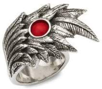 King Baby Studio Wing Bead Sterling Silver Ring