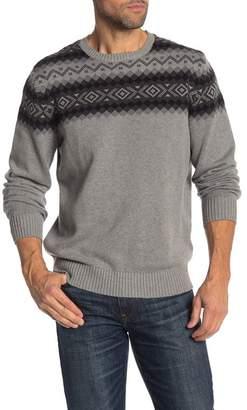 Weatherproof Fairisle Jacquard Yoke Sweater