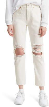 Levi's 501(R) Ripped High Waist Crop Jeans