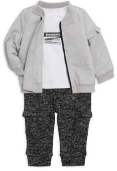 Baby Boy's Three-Piece Jacket, Tee & Pants Set