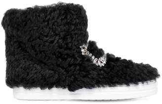 Roger Vivier 20mm Sneaky Viv Shearling Sneaker Boots