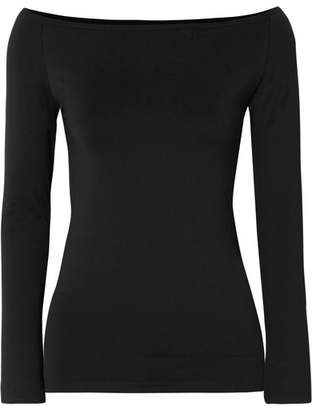 Helmut Lang Stretch-jersey Top - Black
