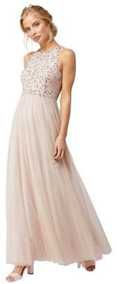 Monsoon Pink 'Scarlett Emb' Tulle Maxi Dress