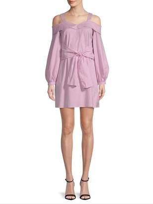 Laundry by Shelli Segal Women's Baloon Sleeve Stripe Dress