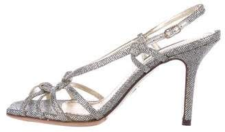 Dolce & Gabbana Glitter Multistrap Sandals