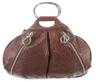 Donna Karan Ostrich Handle Bag