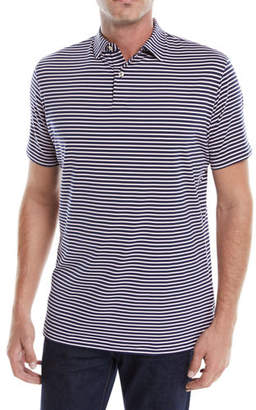 Peter Millar Men's Donald Stripe Tour-Fit Polo Shirt