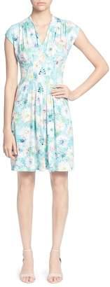 Catherine Malandrino Tinka Pleated Watercolor Floral Dress
