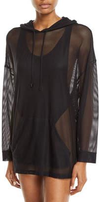 Magicsuit Oversized Mesh Coverup Hoodie