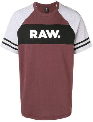 G Star Research logo stripe contrast sleeve tee