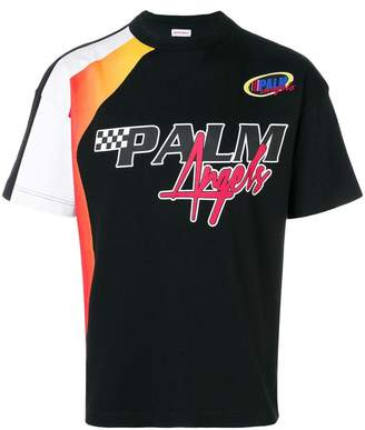 Palm Angels colour-block logo T-shirt