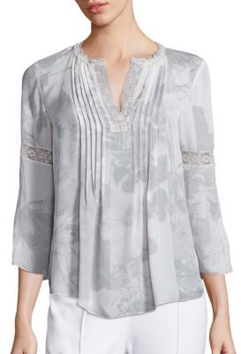 Elie Tahari Alita Silk Blouse $328 thestylecure.com