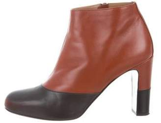 Hermes Leather Round-Toe Boots
