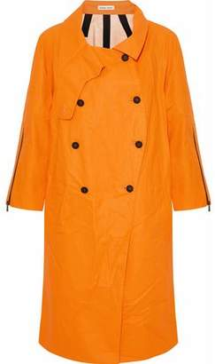 Tomas Maier Coated Linen And Cotton-Blend Raincoat
