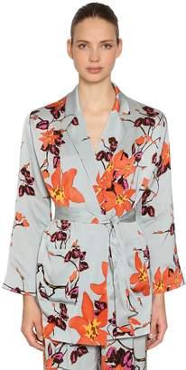 Etro Floral Printed Satin Kimono Top