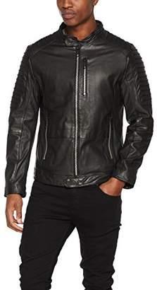 Antony Morato Men's Giubbino Con Iserti Pelle Traforata Jacket