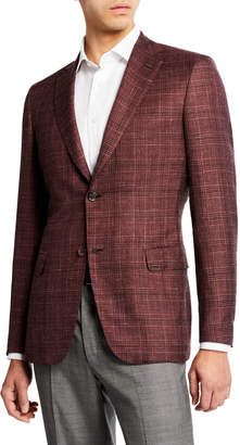 Brioni Men's Cashmere/Silk Plaid Sport Coat