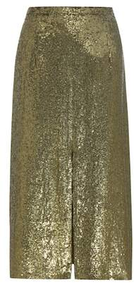 Nina Ricci Sequinned silk skirt
