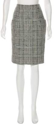 Chanel Tweed Pencil Skirt