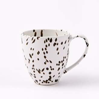 west elm Spotted Mugs (Set of 4) - Black/White