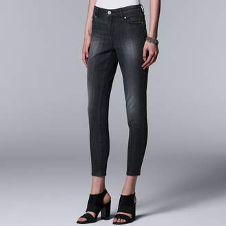 Vera Wang Women's Simply Vera Everyday Luxury Ankle Skinny Jeans