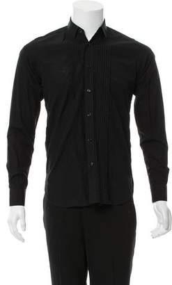 Saint Laurent Pleated Dress Shirt