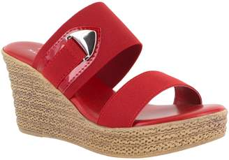 Easy Street Shoes Tuscany by Rope Textured Wedge Sandals - Marisole